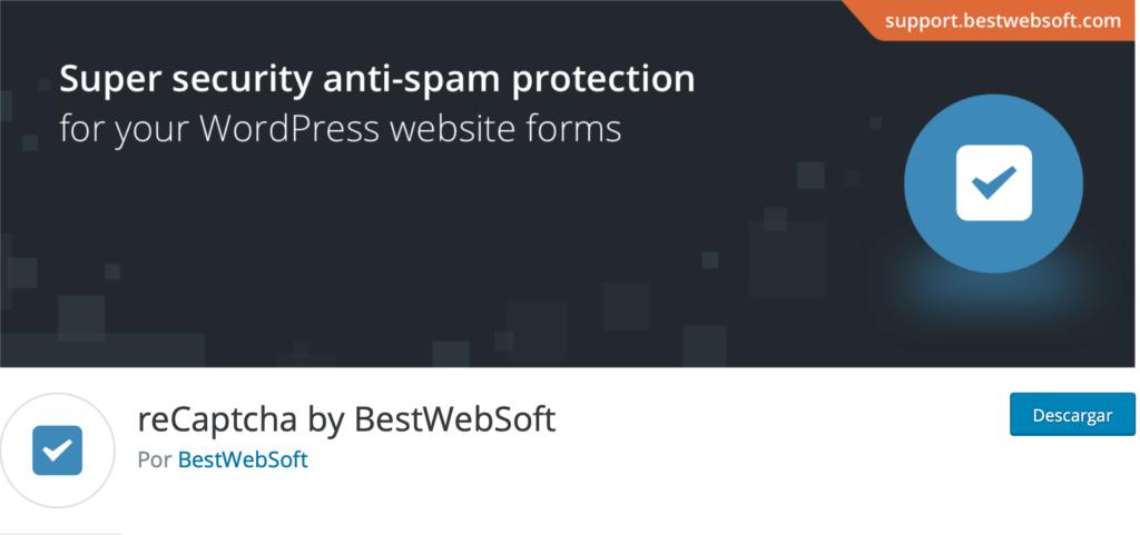 mejor plugin recaptcha wordpress